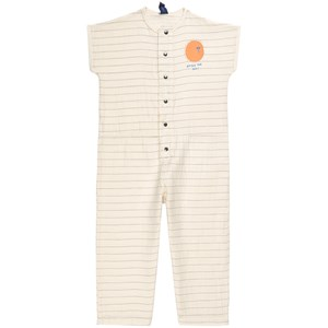 Bonmot Organic Jumpsuit Stripes Enjoy Ivory 2-3 år