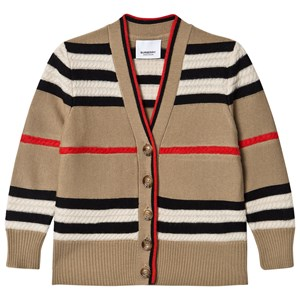 Burberry Icon Stripe Wool/Cashmere Cardigan Archive Beige 4 years