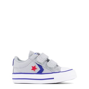 Converse Grey Velcro Star Player 3V Trainers 19 (UK 3)