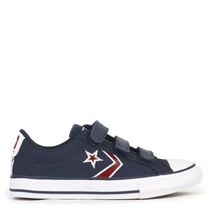 Converse Navy & Red Star Player 3V Trainers 27 (UK 10)