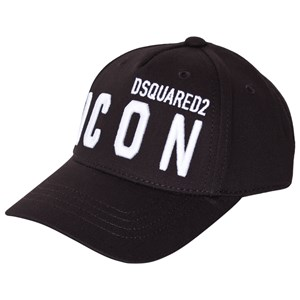 Dsquared2 Icon Embroidered Kasket Sort 2 (8-10 years)