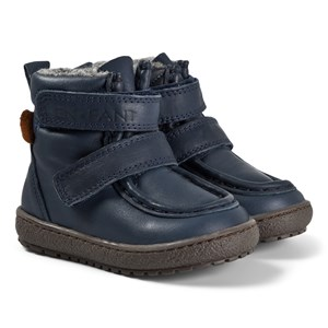 EnFant Velcro Tex Leather Vinterstøvler Navyblå 26 EU