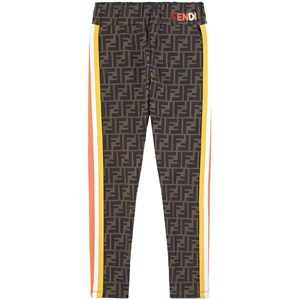 Fendi FF Logo Leggings Brune 6 år