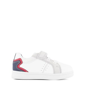 Geox White DJ Rock Leather Trainers 23 (UK 6)