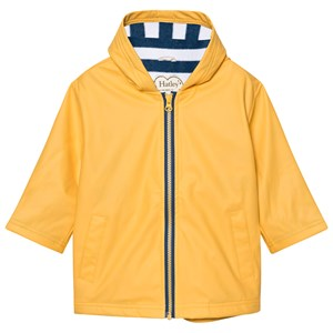 Hatley Yellow Fleece Lined Raincoat 3 years