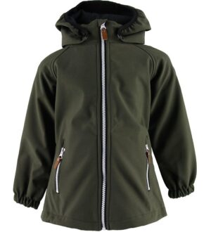 Hulabalu Softshelljakke m. Fleece - Zulu - Dark Army