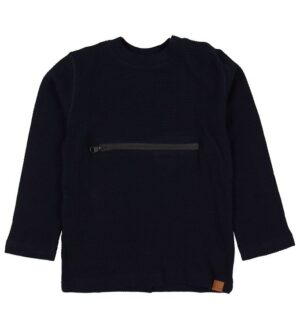 Hust and Claire Bluse - Anton - Navy m. Lynlås