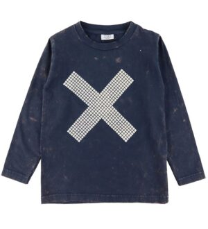 Hust and Claire Bluse - Navy m. Kryds