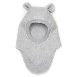 Huttelihut Fleece Elefanthue Teddy - Light Grey