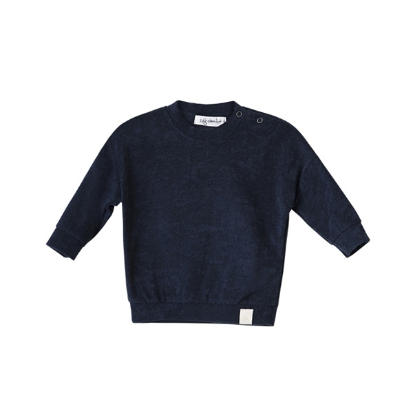 I Dig Denim Totte Baby Sweatshirt - Dark Blue