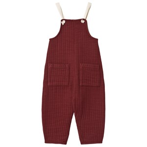Liilu Quilted Jumpsuit Berry Red 4 år