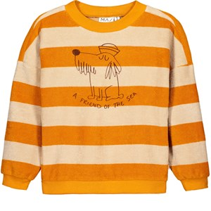 MAINIO Friend Of The Sea Terry Sweatshirt Golden Oak/Doeskin 62/68 cm