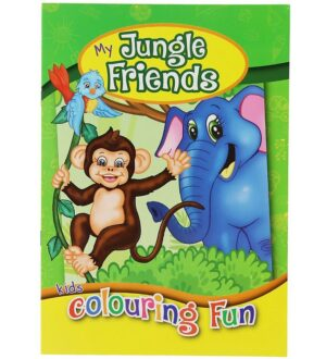 Malebog - My Jungle Friends Colouring Book - 16 Sider