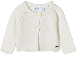 Mayoral Knitted Cardigan White 2-4 mdr