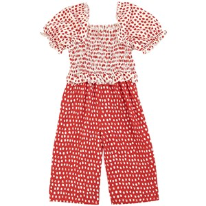 Mayoral Polka Dot Jumpsuit Rød 2 år