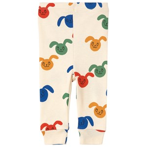 Mini Rodini Rabbits Multi Color Print Leggings White 68/74 cm