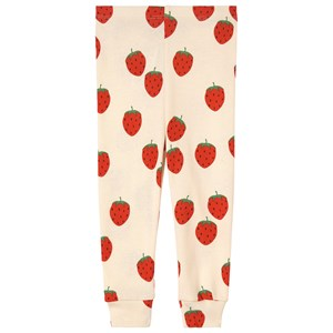 Mini Rodini Strawberry Leggings Cremefarvede 68/74 cm