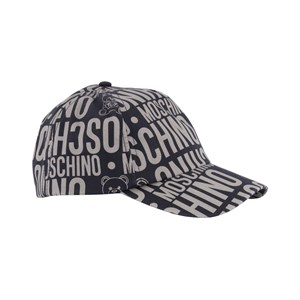 Moschino Kid-Teen Black All Over Branded Bear Cap 54 (10 years)