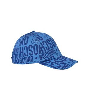 Moschino Kid-Teen Blue All Over Branded Bear Cap 54 (10 years)