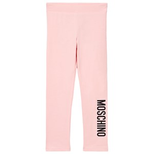 Moschino Kid-Teen Branded Leggings Lyserøde 12 years