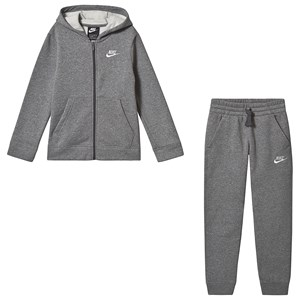 NIKE Core Fleece Tracksuit Grå XS (6-8 years)