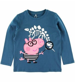 Name It Bluse - NmmPeppaPig - Real Teal m. Print