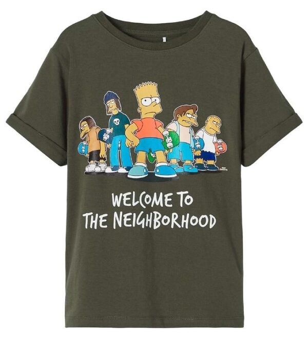 Name It T-shirt - NkmSimpsons - Ivy Green m. Print