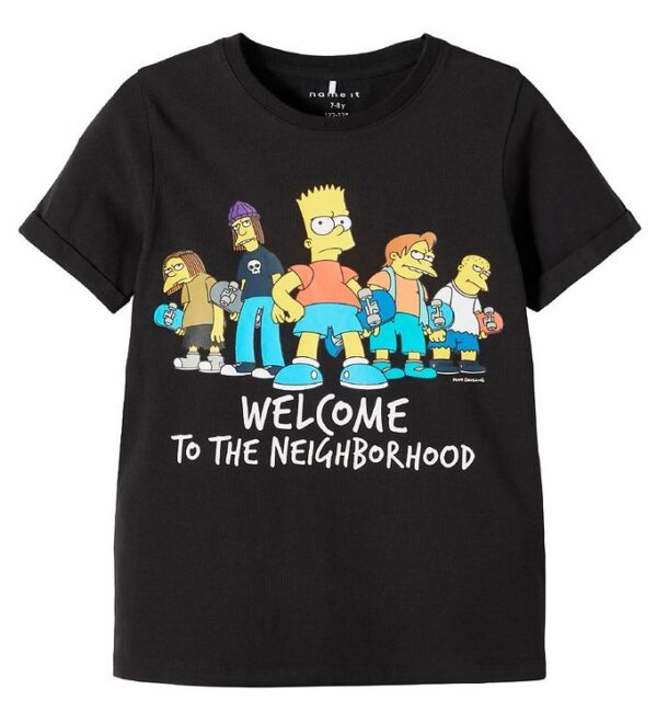 Name It T-shirt - NkmSimpsons - Sort m. Print