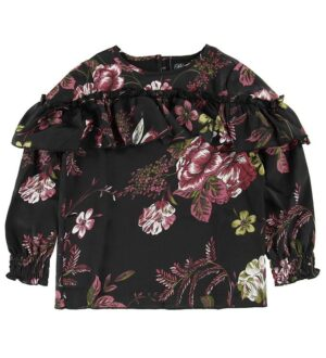 Petit by Sofie Schnoor Bluse - Sort m. Blomster