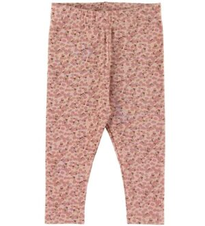 Petit by Sofie Schnoor Leggings - Lily - Light Rose m. Blomster