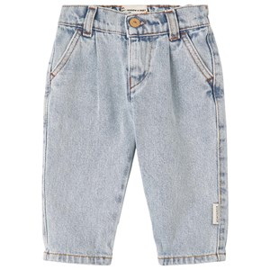 Piupiuchick Washed Denim Jeans Light blue 4 år