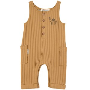 Sproet & Sprout Brown Desert Stripe with Camel Print Jumpsuit 68-80 (6-12 months)