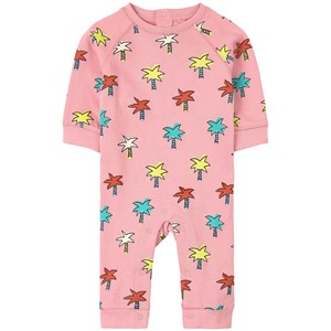 Stella McCartney Kids Pink Palm Tree Fleece Romper 3 mdr
