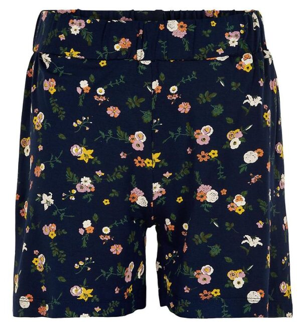 The New Shorts - Thelma - Navy m. Blomster