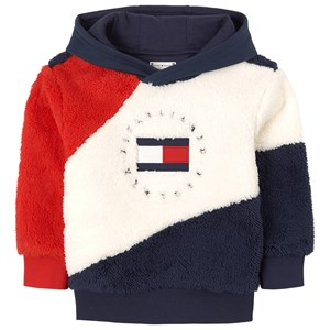 Tommy Hilfiger Teddy Fleece Pull Over Hoodie Cream 8 år
