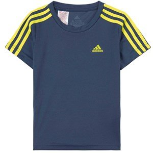 adidas Performance 3 Stripes T-Shirt Navy 4-5 years (110 cm)