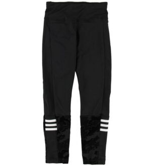 adidas Performance Leggings - Sort m. Mønster
