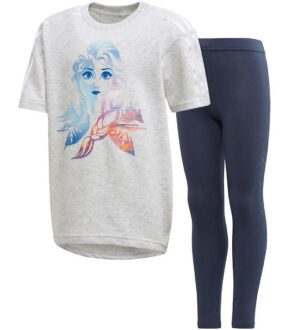 adidas Performance T-shirt/Leggings - Disney Frozen - Grå/Navy