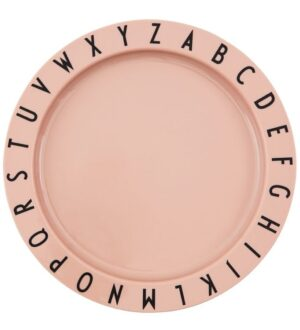 Design Letters Tallerken - Tritan - 20 cm - Eat & Learn - Nude