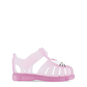 Igor Light Pink Transparent Hello Kitty Jelly Tobby Sandals With Velcro Strap 19 (UK 3)