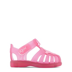 Igor Pink Transparent Starfish Jelly Tobby Sandals With Velcro Strap 18 (UK 2)