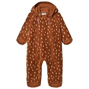 Kuling Livigno Wind Fleece Flyverdragt Brown Dots 86 cm