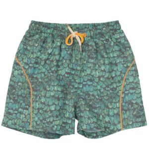 Mini A Ture Badeshorts - Hawaii - UV50+ - Oil Green