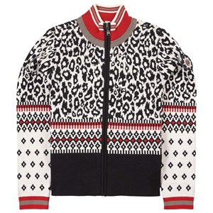 Poivre Blanc Leopard Knitted Fleece Jacket White 12 år