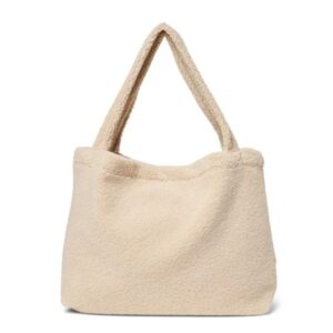 STUDIO NOOS pusletaske / mommybag i Teddy Fleece - Ecru
