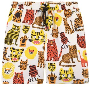 Stella McCartney Kids Wild Cats Badebukser Hvide 4 år