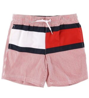 Tommy Hilfiger Badeshorts - Primary Red Stripe