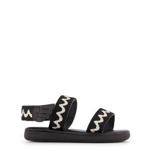 Ancient Greek Sandals Black and White Little Agatha Soft Sandals 24 (UK 7)