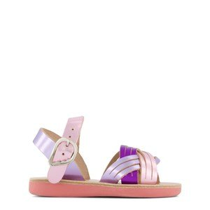 Ancient Greek Sandals Pink and Lilac Little Electra Soft Buckle Sandals 24 (UK 7)