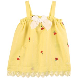 Chloé Floral Embroidered Kjole Gul 9 mdr